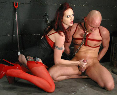 Red Stockings Femdom